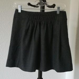 J. Crew Gray Mini Skirt Size 0